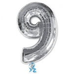 Цифра 9 серебряная