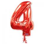 Цифра 4 красная