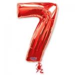 Цифра 7 красная