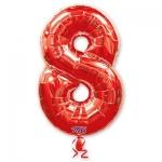Цифра 8 красная