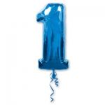 Цифра 1 синяя
