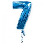 Цифра 7 синяя