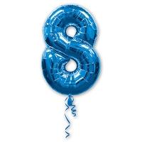 Цифра 8 синяя
