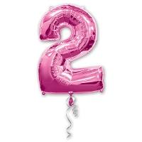 Цифра 2 розовая