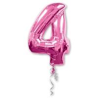 Цифра 4 розовая