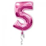 Цифра 5 розовая