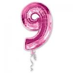 Цифра 9 розовая
