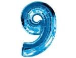 Цифра 9 синяя
