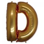 Буква D фольгированная