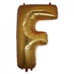 Буква F фольгированная