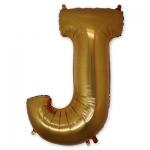 Буква J фольгированная