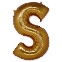Буква S фольгированная