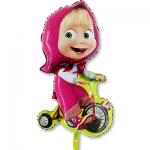 """Фольгированный шар """"Маша на велосипеде"""""""