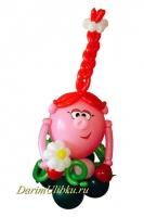 """Фигура из воздушных шаров """"Нюша"""""""