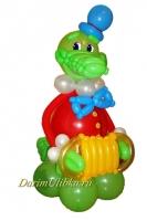 """Фигура из воздушных шаров """"Крокодил Гена"""""""