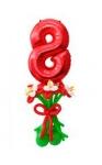 Букет с цифрой 8