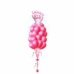 Выписка из роддома букет воздушных шаров девочке