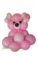 """Фигура из воздушных шаров """"Медведь"""" розовый"""