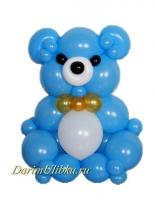 """Фигура из воздушных шаров """"Медведь"""" голубой"""