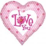 """Шар """"Сердце люблю тебя"""""""