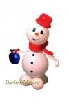"Фигура ""Снеговик с подарком"""