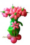 Букет цветов из воздушных шаров на подставке