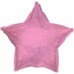 Фольгированный шар звезда розовая