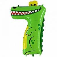 "Воздушный шар с гелием ""Цифра 7 крокодил"""