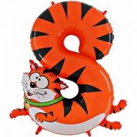"Воздушный шар с гелием ""Цифра 8 котик"""