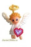 """Фигура из воздушных шаров """"Ангелочек с сердцем"""""""
