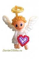 Фигура из воздушных шаров Ангелочек с сердцем