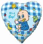 """Шар """"Сердце новорожденному мальчику"""""""