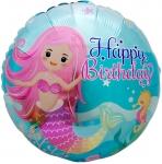 Круг с днем рождения русалочка