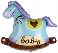 Воздушный шар Лошадка качалка для мальчика