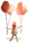 Фигура малышка с гелиевыми шарами