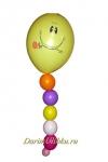 Фигура воздушный шар смайл на ножке