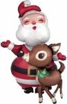 """Ходячий шар """"Санта с оленем"""""""