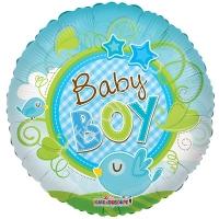 """Фольгированный круг """"Baby boy"""""""