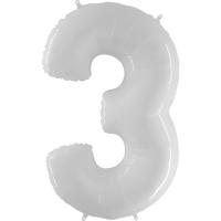 Цифра 3 Белая