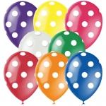 """Воздушные шары с гелием """"Горошек"""""""