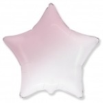 "Шар ""Звезда градиент"" розовый 45 см"