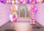 Оформление на выписку для девочки из воздушных шаров