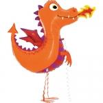 """Ходячий шар """"Маленький дракон"""" оранжевый"""