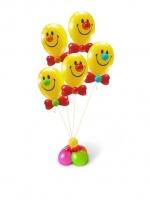 Фонтан смайлов из воздушных шаров