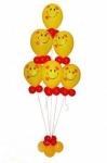 Фонтан смайлов из воздушных шаров №2