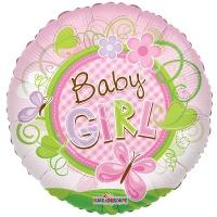 """Фольгированный круг """"Baby girl"""""""