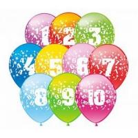 Воздушные шары с цифрами