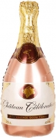 "Шар ""Бутылка шампанского"" розовое золото"