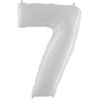 Цифра 7 Белая