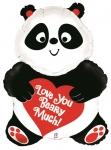 """Фольгированный шар """"Панда с сердечком"""""""